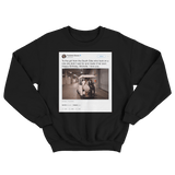 Barack Obama happy birthday Michelle tweet on a black crewneck sweater from Tee Tweets
