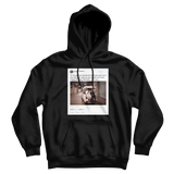 Barack Obama happy birthday Michelle tweet on a black hoodie from Tee Tweets