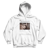 Barack Obama happy birthday Michelle tweet on a white hoodie from Tee Tweets