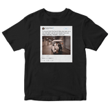 Barack Obama happy birthday Michelle tweet on a black t-shirt from Tee Tweets