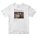Barack Obama happy birthday Michelle tweet on a white t-shirt from Tee Tweets