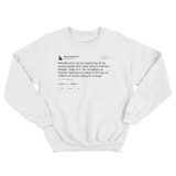 Barack Obama inspired by the youth tweet on a white crewneck sweater from Tee Tweets