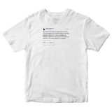 Barack Obama inspired by the youth tweet on a white t-shirt from Tee Tweets