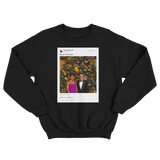 Barack Obama Merry Christmas tweet on a black crewneck sweater from Tee Tweets