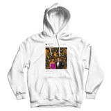 Barack Obama Merry Christmas tweet on a white hoodie from Tee Tweets