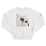 Barack Obama no one is born hating another person because of the color of their skin white tweet sweater