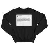 Barack Obama young people lead tweet on a black crewneck sweater from Tee Tweets