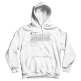 Barack Obama young people lead tweet on a white hoodie from Tee Tweets