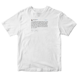 Barack Obama young people lead tweet on a white t-shirt from Tee Tweets