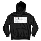 Bernie Sanders Donald Trump is an idiot tweet on a black hoodie from Tee Tweets
