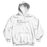 Bernie Sanders Donald Trump is an idiot tweet on a white hoodie from Tee Tweets