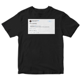 Bobby Moynihan you a dummy Donald Trump Jr. tweet on a black t-shirt from Tee Tweets
