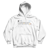 Cardi B Bill Clinton tweet on a white hoodie from Tee Tweets