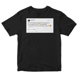 Cardi B Bill Clinton tweet on a black t-shirt from Tee Tweets