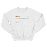 Cardi B lot of people on my hit list tweet on a white crewneck sweater from Tee Tweets