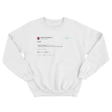 Chance The Rapper quit watching Harry Potter tweet on a white crewneck sweater from Tee Tweets