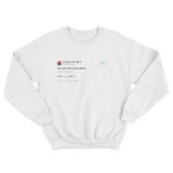 Chance The Rapper you are the living word tweet on a white crewneck sweater from Tee Tweets