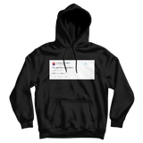 Chance The Rapper you are the living word tweet on a black hoodie from Tee Tweets