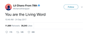 Chance-the-Rapper-you-are-the-living-word-tweet-tee-tweets