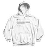 Cher me thinks doth protest too much tweet on a white hoodie from Tee Tweets