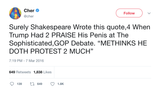 "Cher - ""Me Thinks Doth Protest Much"""