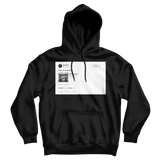 Donald Glover this is America tweet on a black hoodie from Tee Tweets
