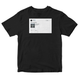 Donald Glover this is America tweet on a black t-shirt from Tee Tweets