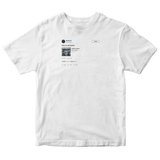 Donald Glover this is America tweet on a white t-shirt from Tee Tweets