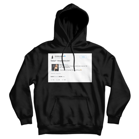 Chrissy Teigen Rihanna Cardi B threesome lyrics tweet on a black hoodie from Tee Tweets