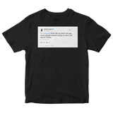 Chrissy Teigen John Legend mom and dad on Twitter tweet on a black t-shirt from Tee Tweets