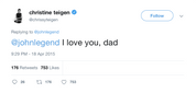 "Chrissy Teigen - ""I Love You Dad"""