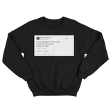 Conor McGregor thanks for the cheese retirement tweet on a black crewneck sweater from Tee Tweets