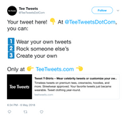 Customize and create your own Twitter tweet from Tee Tweets