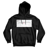 Daniel Tosh viciously headbut I'm keeping it 100 tweet on a black hoodie from Tee Tweets