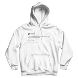 Daniel Tosh I will viciously headbutt the next person who says im keeping it 100 white tweet hoodie