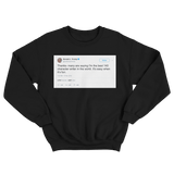 Donald Trump best 140 character writer in the world its easy when its fun black tweet sweater