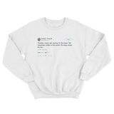 Donald Trump best 140 character writer in the world its easy when its fun white tweet sweater