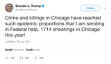 Donald-Trump-crime-and-killings-in-Chicago-sending-federal-help-shootings-tweet-tee-tweets