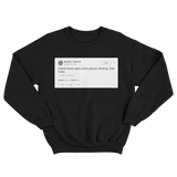 Donald Trump I have never seen a thin person drinking Diet Coke black tweet sweater