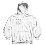 Donald Trump the electoral college is a disaster for a democracy white tweet hoodie