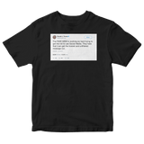 Donald Trump tweet about the mainstream media on a black t-shirt from Tee Tweets