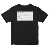Donald Trump tweet about Jon Stewart's nickname for him on a black t-shirt from Tee Tweets