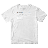 Donald Trump's global warming was created by the Chinese tweet on a white t-shirt from Tee Tweets