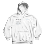 Donald Trump Happy Thanksgiving to haters and losers tweet on a white hoodie from Tee Tweets