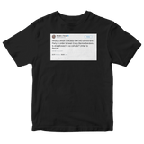 Donald Trump Hillary Clinton beat Crazy Bernie tweet on a black t-shirt from Tee Tweets