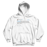 Donald Trump Katy Perry marrying Russell Brand tweet on a white hoodie from Tee Tweets