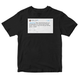 Donald Trump Katy Perry marrying Russell Brand tweet on a black t-shirt from Tee Tweets