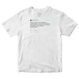 Donald Trump proud to say Merry Christmas again tweet on a white t-shirt from Tee Tweets