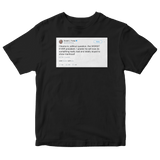 Donald Trump tweet calling Obama the worst president ever on a black t-shirt from Tee Tweets