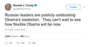 Donald Trump Russian leaders celebrating Obama tweet from Tee Tweets